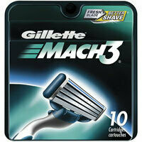 Gillette Mach3 Fresh Blades For Better Shave - 10 Each