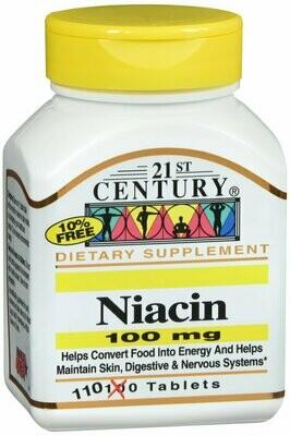 NIACIN 100MG TAB 110CT 21ST CENTURY