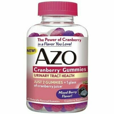 AZO Cranberry Gummies Urinary Tract Health, Mixed Berry 40 each
