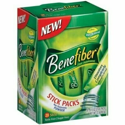 Benefiber Fiber Sugar-Free On the Go Stick Packs, Unflavored, 28 each