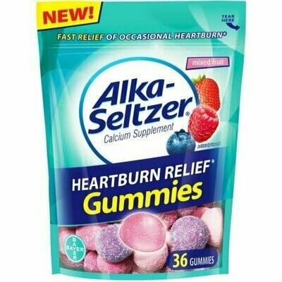 Alka-Seltzer Heartburn Relief Gummies, Mixed Fruit 36 pack