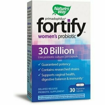 Nature's Way Primadophilus Fortify Women's Probiotic 30 Billion Vegetarian Capsules 30 each
