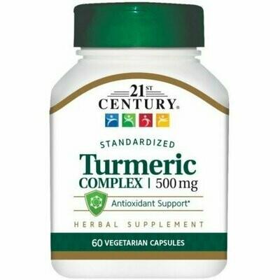 21st Century Turmeric Complex Vegetarian Capsules 500 MG 60 each