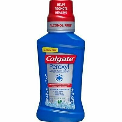 Colgate Peroxyl Antiseptic Oral Cleanser Mild Mint 8.4 oz