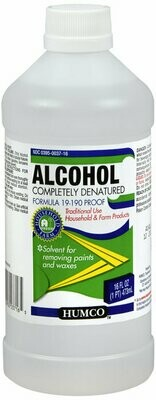 HUMCO ALCOHOL DENATURED 16OZ