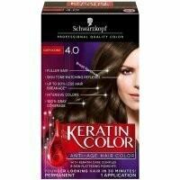Schwarzkopf Keratin Color Anti-Age Hair Color, Cappuccino [4.0] 1 each