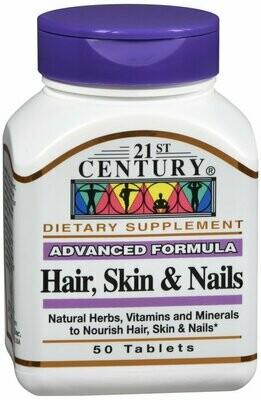 HAIR SKIN NAILS ADVANCED FORM CAPS 50 CT