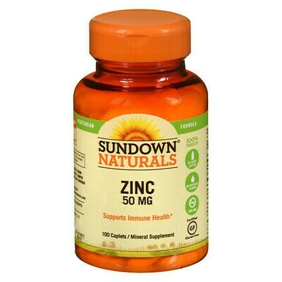 Sundown Naturals Zinc, 50mg