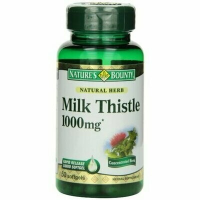 Nature's Bounty Milk Thistle 1000mg Softgels 50 each