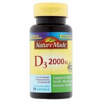 Nature Made: Vitamin D 2000 I.U. Liquid Softgels Dietary Supplement, 90 Ct