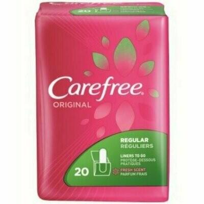 CAREFREE Original Regular To-Go Pantiliners, Fresh Scent 20 each
