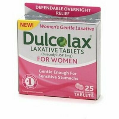 Dulcolax Laxative Comfort Coated Tablets for Women 25 Tablets