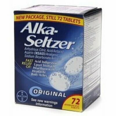 Alka-Seltzer Effervescent Tablets, Original 72 each