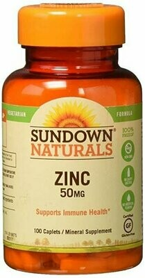 Sundown Zinc 50mg High Potency (100 Caplets)