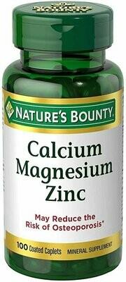 Nature's Bounty Calcium-Magnesiuim-Zinc 100 count