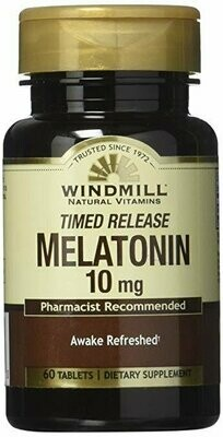 Windmill Melatonin Tabs, 10 mg, 60 count