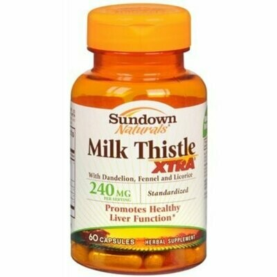 Sundown Milk Thistle XTRA Capsules 60 each