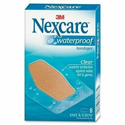 Nexcare Waterproof Clear Bandage, Knee and Elbow, 8 CT