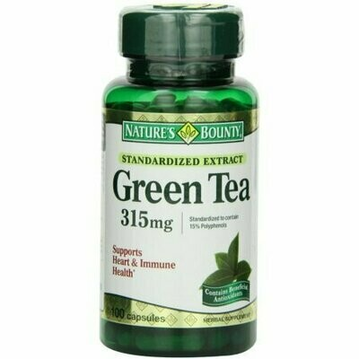Nature's Bounty Green Tea Extract 315 mg Capsules 100 each