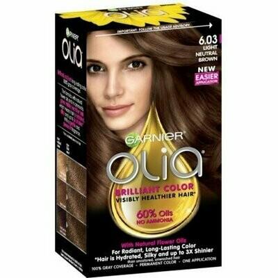 Garnier Olia Ammonia Free Hair Color [6.03] Light Neutral Brown 1 each