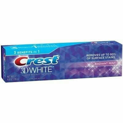 Crest 3D White Toothpaste Radiant Mint 4.8 oz