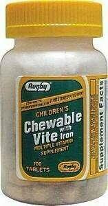 CHEWABLE-VITE W/IRON 100 COUNT