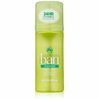 Ban Anti-Perspirant Deodorant Original Roll-On Unscented 3.50 oz
