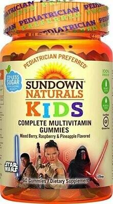 Sundown Naturals Kids Star Wars Complete Multivitamin, 60 Count