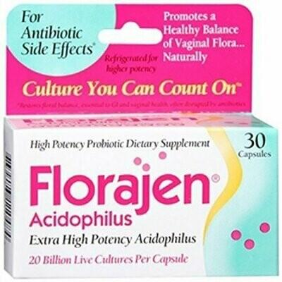 Florajen Acidophilus Dietary Supplement 30 Caps