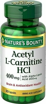 Nature's Bounty L-Carnitine 400 mg & ALA 200 mg, 30 Capsules
