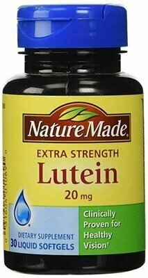 Nature Made Lutein 20 mg Softgels, 30 ct
