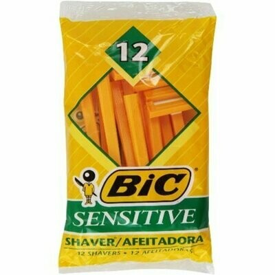 Bic Single Blade Shavers, Sensitive 12 each