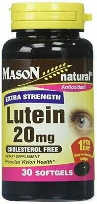 Mason Vitamins Lutein 20 mg Softgels, 60 Count
