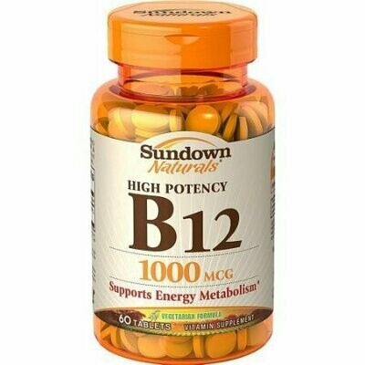 Sundown Naturals B-12 1000 mcg Tablets 60 Tablets Each