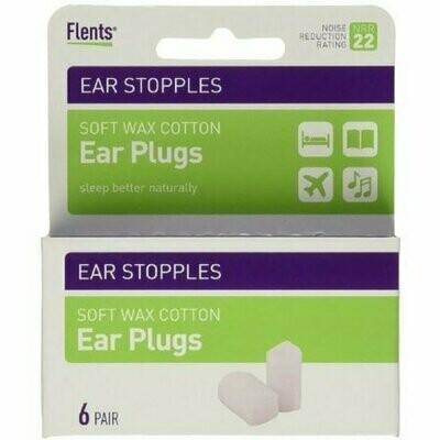 Flents Ear Stopples Wax-Cotton Ear Plugs