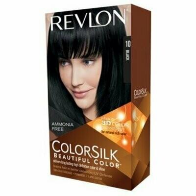 Revlon Colorsilk Permanent Haircolor, 10 Black 1 each