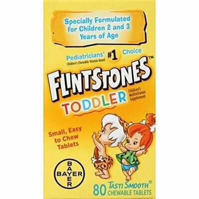 Flintstones Toddler Chewable Multivitamins, 80 Count