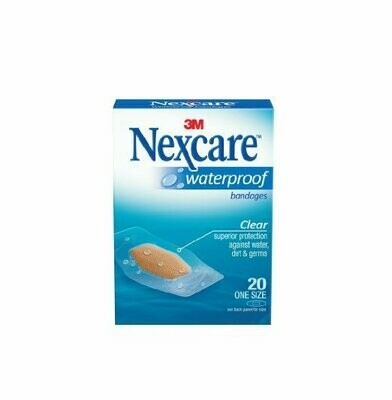 NEXCARE WATERPROOF ONE SIZE 20CT