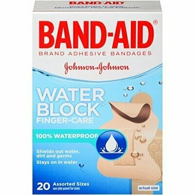 Band-Aid Adhesive Bandages Block Plus, Finger-Care, 20 Count