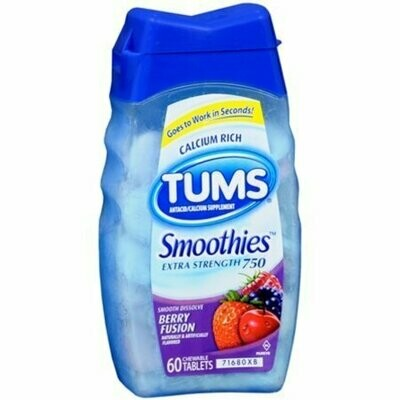 TUMS Smoothies Berry Fusion 60 Tablets