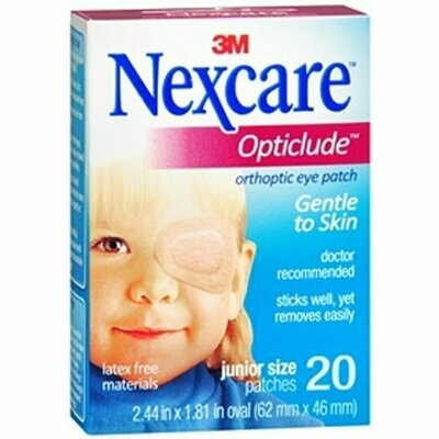 NEXCARE OPTICLUDE JR EYE PATCH 20CT