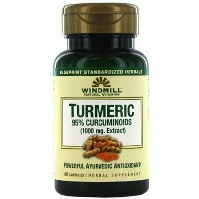 Windmill Turmeric 95% Curcuminoids 1000 Mg Capsules - 60 Each