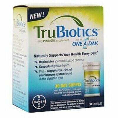 TruBiotics Daily Probiotic Supplement 30 Capsules