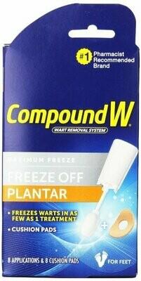COMPOUND W FREEZE OFF PLANTAR 8CT