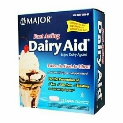 Major Fast Acting Dairy Aid Caplets, 32ct