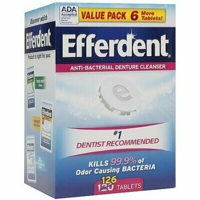 Efferdent Original Anti-Bacterial Denture Cleanser Tablets 126 each