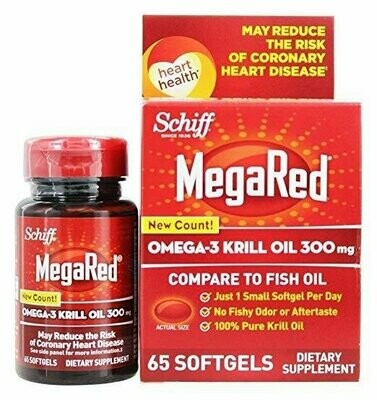 Schiff Bio Foods Mega Red 65 Softgels