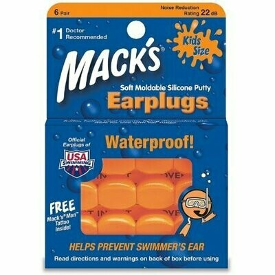 Mack's Kids Size Soft Moldable Silicone Ear Plugs