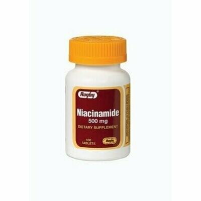 RUGBY NIACINAMIDE 500MG TAB NIACINAMIDE-500 MG white 100 TABLETS