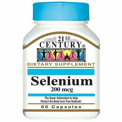 21st Century Selenium 200 mcg Capsules - 60 count